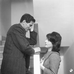 Pasolini e Anna Magnani nos bastidores de Mama Roma