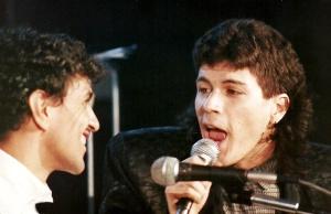 Caetano Veloso e Paulo Ricardo em especial da Globo em 1986